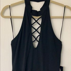 Express black halter top dress